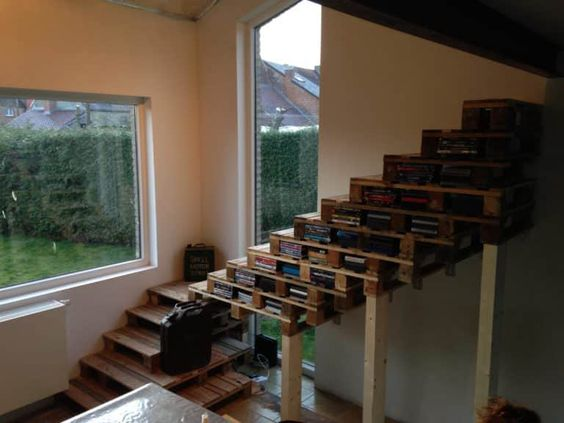 Idei geniale de scari realizate din paleti reciclati
