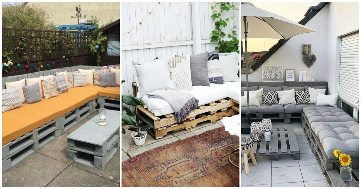 Idei de canapele din paleti de lemn pentru casa si gradina 2020