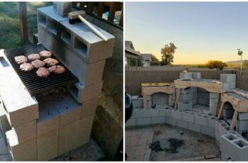 Idei geniale de gratare de gradina din boltari de beton