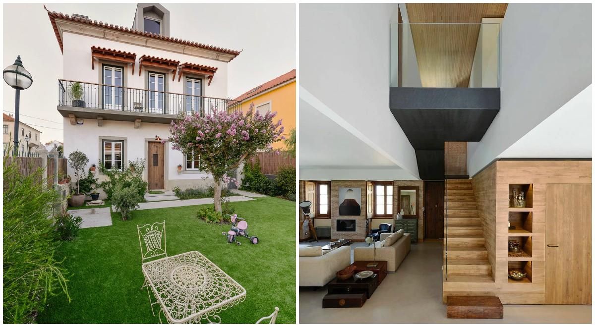 Casa din Estoril, o casa din 1923 transformata intr-o casa moderna