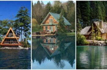 Idei de case minunate construite pe malul apei