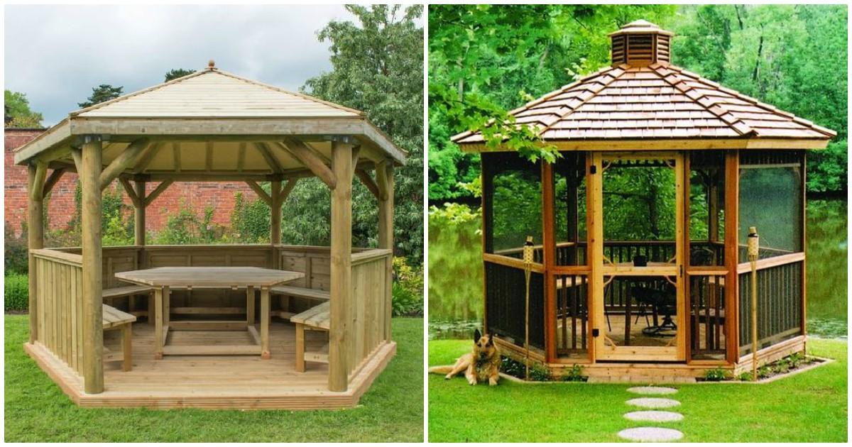 40 Modele de foisoare din lemn pentru curte si gradina