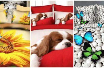 50 Lenjerii de pat 3D ieftine pentru toate gusturile