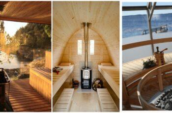 30 Idei geniale de interioare pentru saune