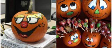 Dovleci pictati de Halloween 40 de idei creative pentru inspiratie