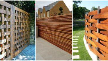 Modele de garduri din lemn pentru imprejmuit curtea