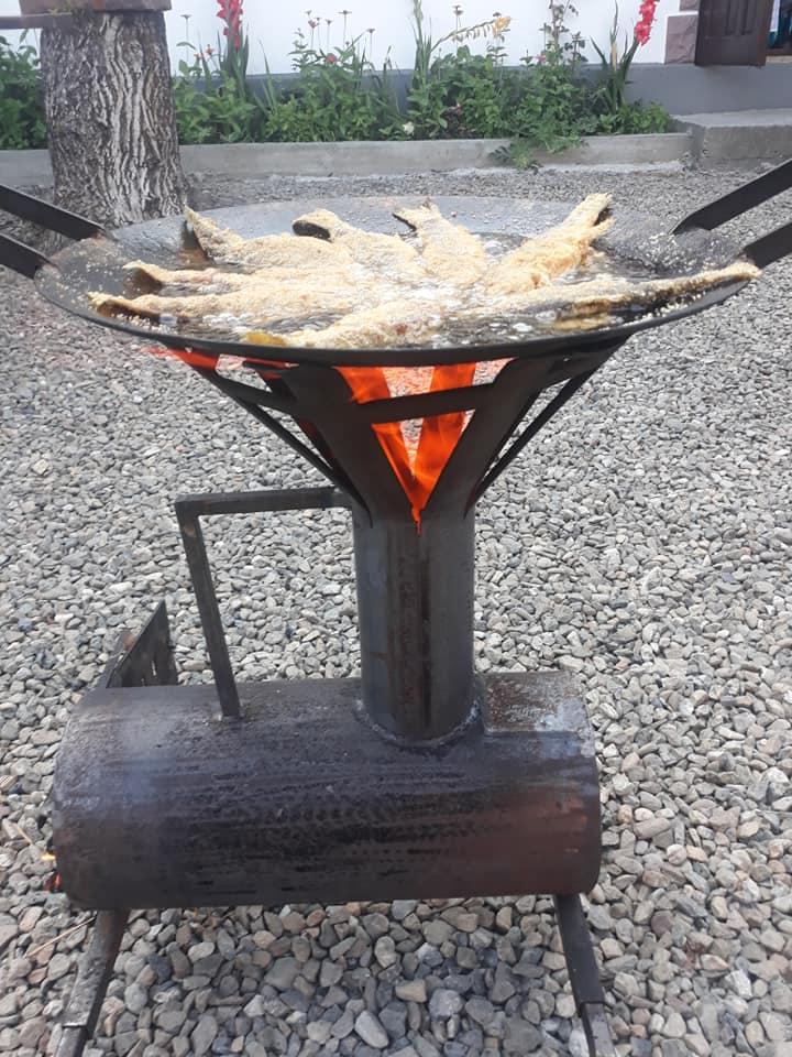 Soba Racheta de la Gratare Piatra Neamt, disc 51 cm, dispozitiv pentru ceaun