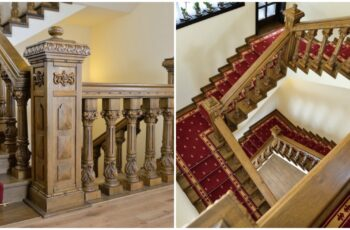 Balustrada din lemn masiv sculptata manual, Appolo Romania