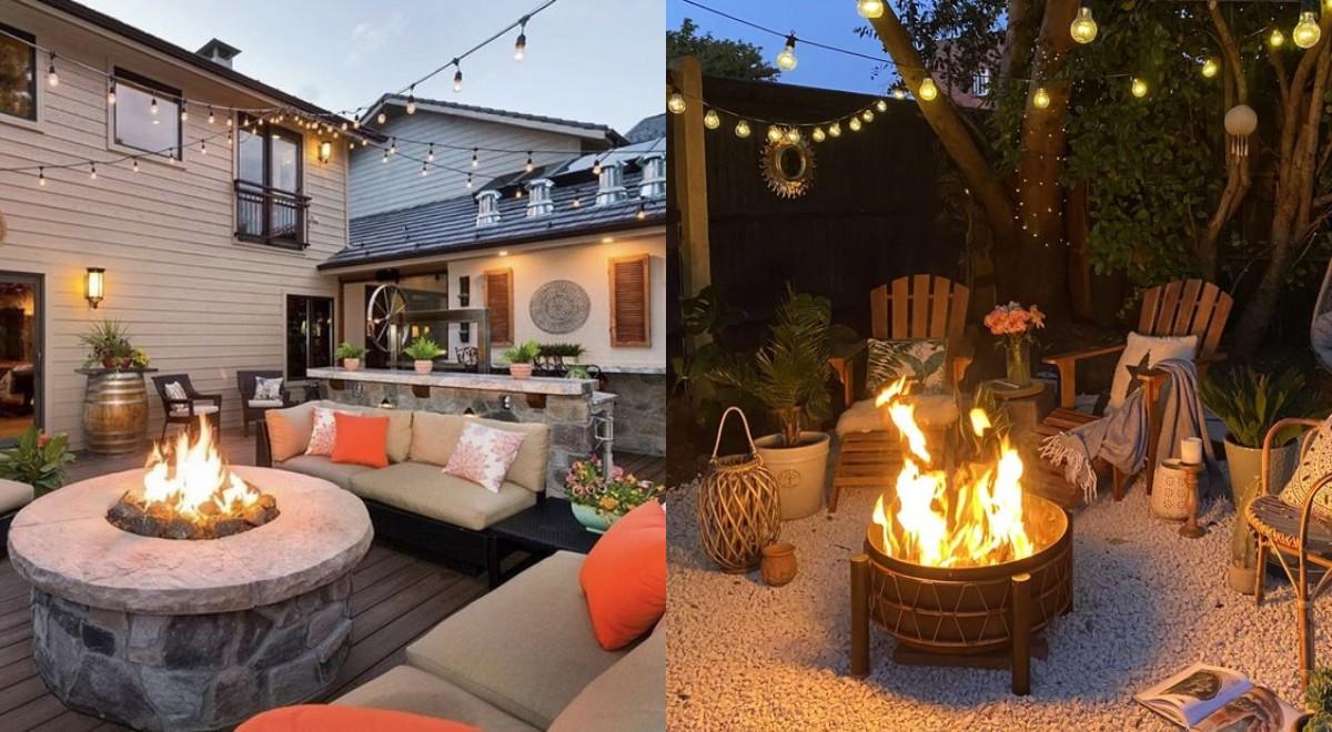 30 Idei de vetre de foc care pot fi amenajate in curtea din spatele casei